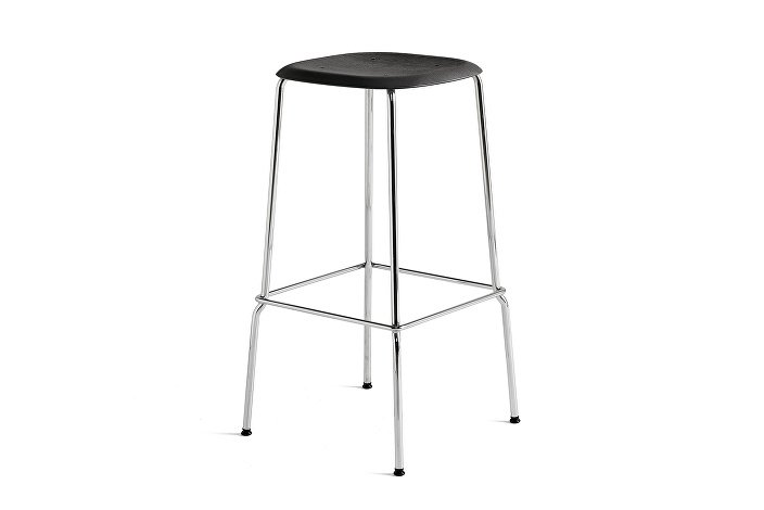 1991711159000_Soft Edge 30 Bar Stool high_H75_Base chromed steel_Seat oak black stained