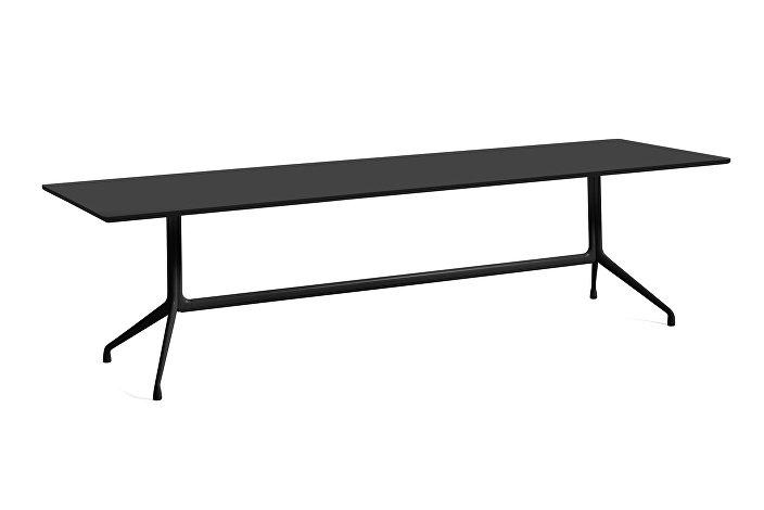 1933321009000_AAT10 Table_L280xW90xH73_Black linoleum tabletop_black frame