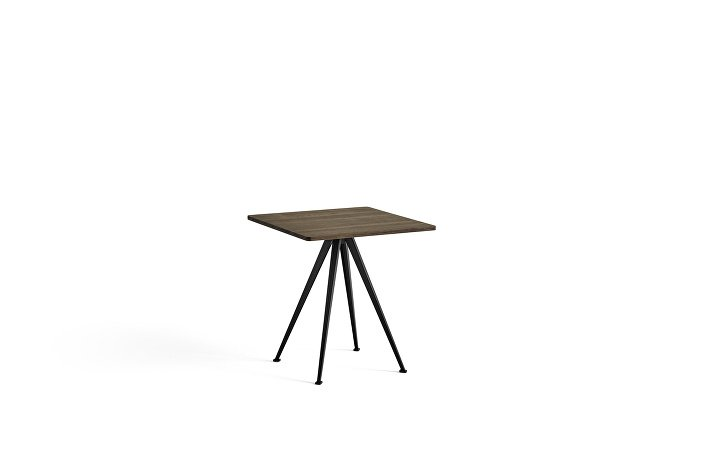 1959272009000_Pyramid Cafe Table 21_L70xW70_Frame black_Top oak smoked oiled_wb