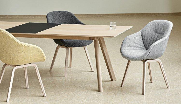 CPH Extendable Table_AAC123 Soft Duo matt lacquer oak base uph. front Hallingdal 116 back Remix 133