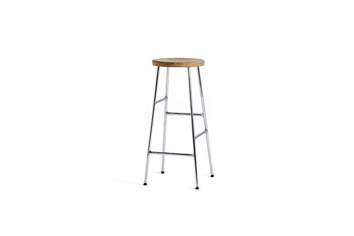 930315150900_Cornet Bar Stool H75_Chromed Steel Base_Solid Oak Seat_wb
