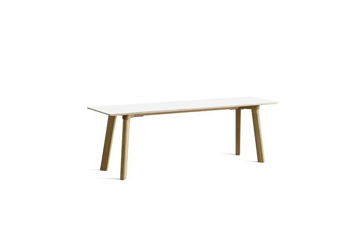 8091171309000_CPH Deux 215 Bench_L140xW35xH45_Matt lacquer oak base_Pearl white laminate