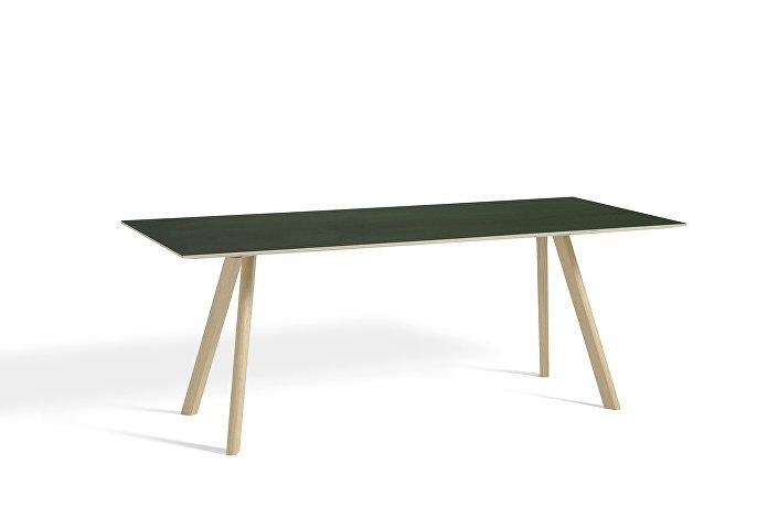 1043012049000_CPH30 L200xW90_Matt lacquer oak base_Green lino