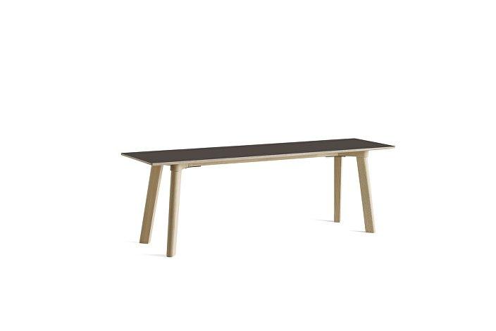 8091311209000_CPH Deux 215 Bench_L140xW35xH45_Beech untreated raw plywood edge base_Stone grey laminate