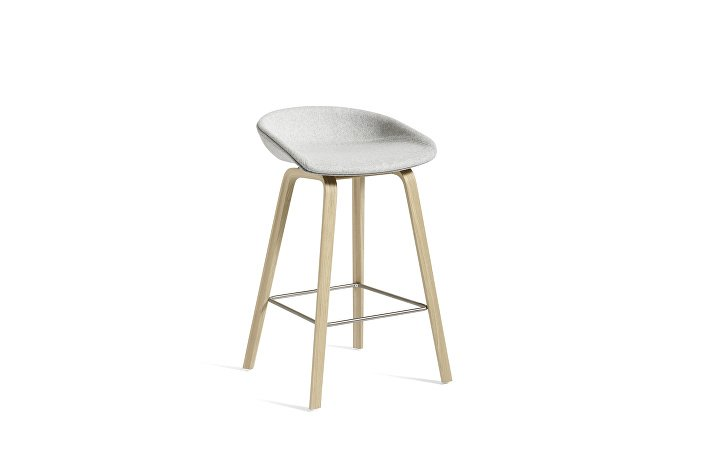 2336021422506_AAS33 H65_Matt lacquer oak base_Stainless steel footrest_Uph divina melange 120