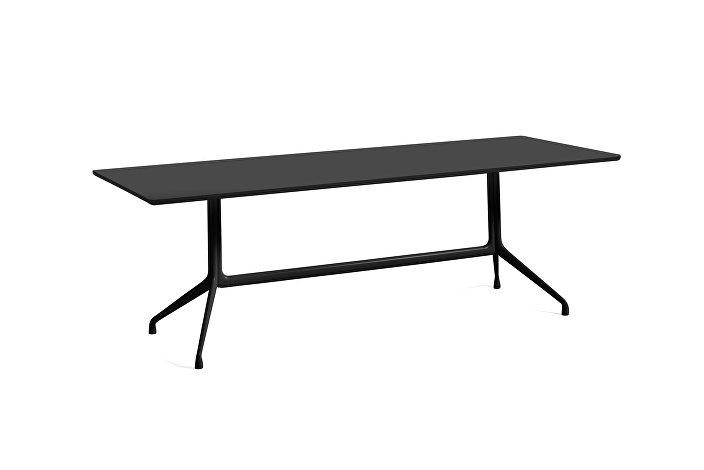 1933221009000_AAT10 Table_L220xW90xH73_Black linoleum tabletop_black frame