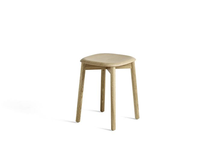 928309_Soft Edge 72 Stool_Base matt laquered_Seat matt laquered oak