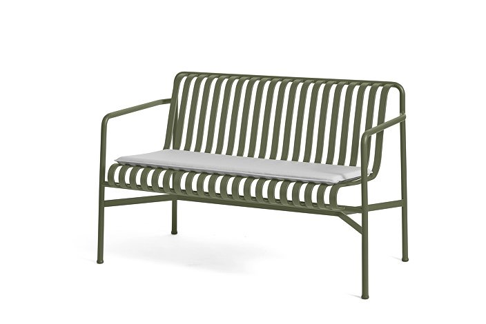 Palissade Dining Bench Olive_Seat Cushion Sky Grey