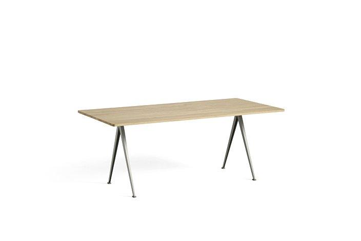 1955111509000_Pyramid Table 02_L190xW85_Frame beige_Top oak matt lacquered