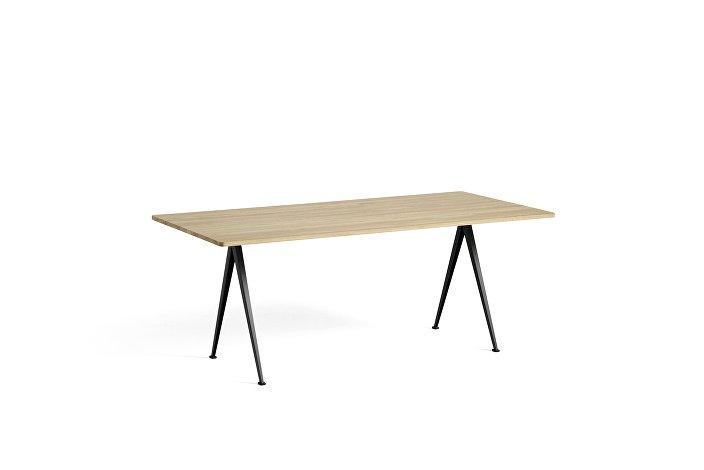 1955091509000_Pyramid Table 02_L190xW85_Frame black_Top oak matt lacquered