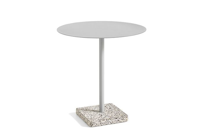 1952131009000_Terrazzo Table Round_dia70_Grey base_ky grey tabletop