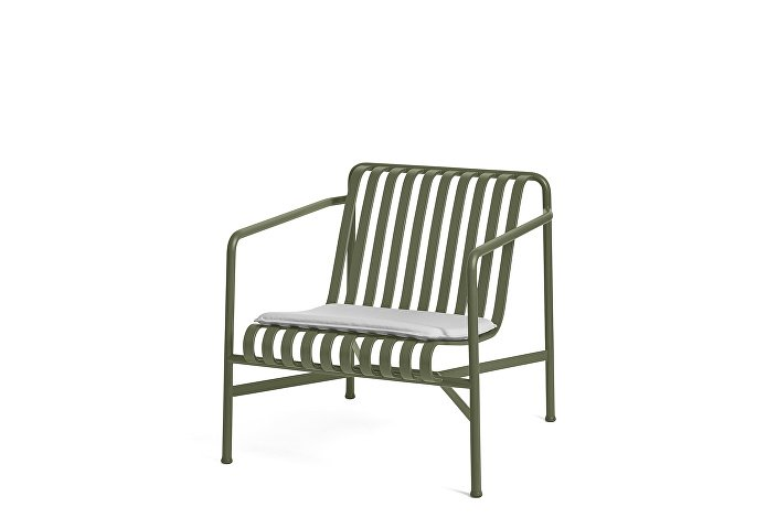 Palissade Lounge Chair Low olive_Seat Cushion Sky Grey