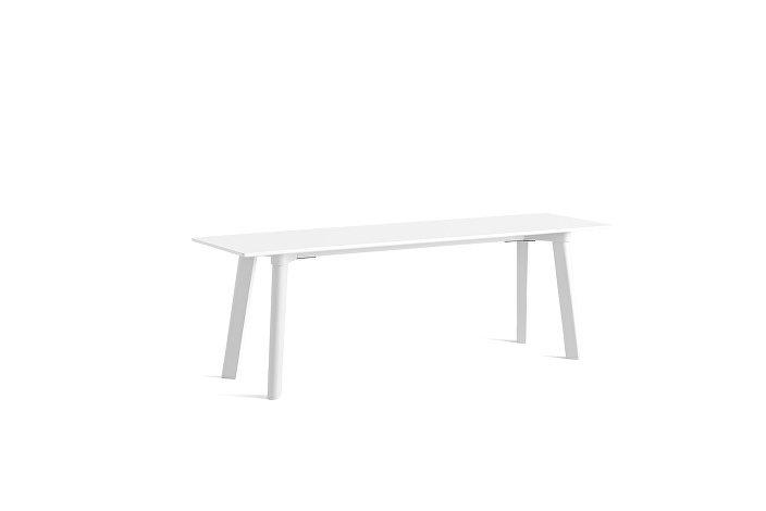 8091711009000_CPH Deux 215 Bench_L140xW35xH45_Pearl white plywood edge base_Pearl white laminate