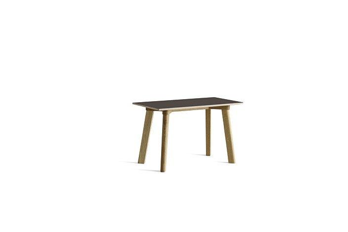 8091151209000_CPH Deux 215 Bench_L75xW35xH45_Matt lacquer oak base_Stone grey laminate