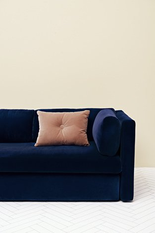 Hackney, Lola Navy_Dot Cushion Soft