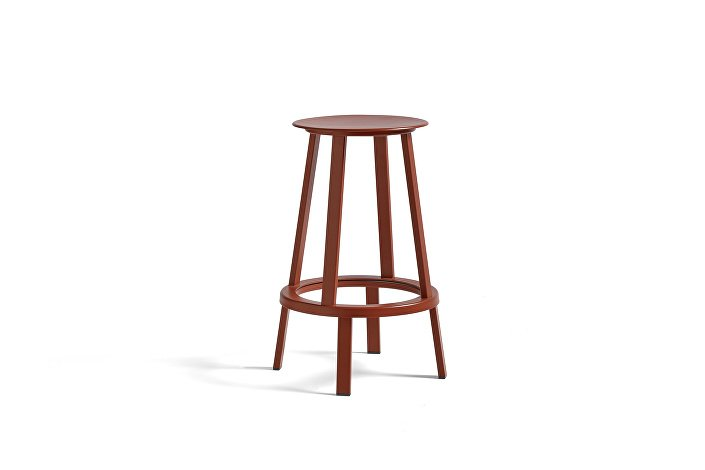 4000112009000_Revolver Bar Stool Low H65 red