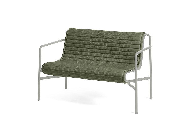 Palissade Dining Bench Sky Grey_Quilted Cushion Olive