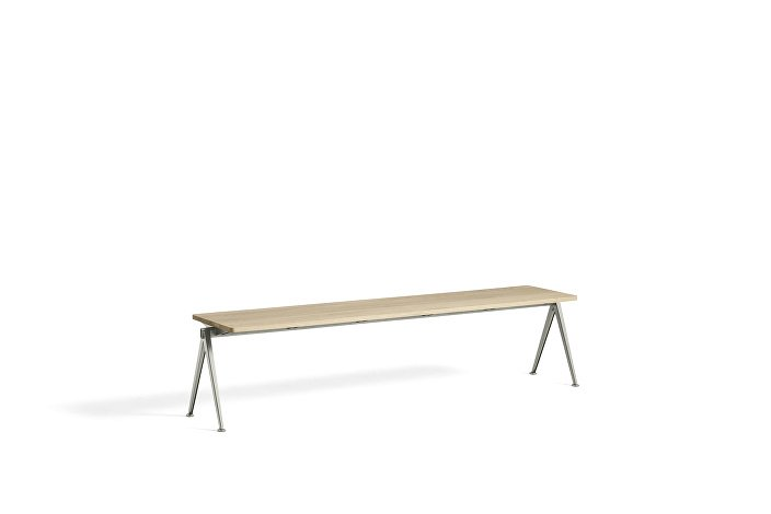 1955651509000_Pyramid Bench 11_L200xW40_Frame beige_Top oak matt lacquered