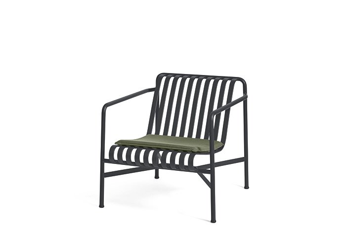 Palissade Lounge Chair Low Anthracite_Seat Cushion Olive