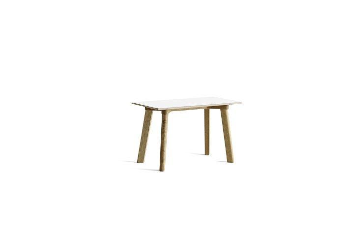 8091151309000_CPH Deux 215 Bench_L75xW35xH45_Matt lacquer oak base_Pearl white laminate