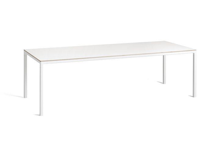 1023203509000_T12 Table_L250xW95xH74_Frame white_Tabletop white laminate