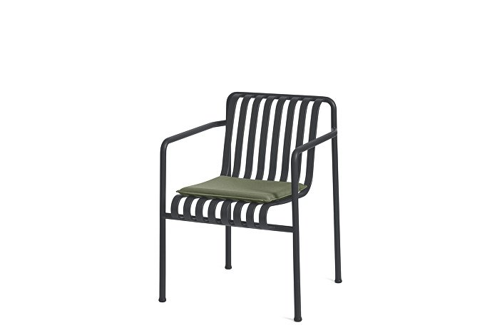 Palissade Dining Arm Chair Anthracite_Seat Cushion Olive