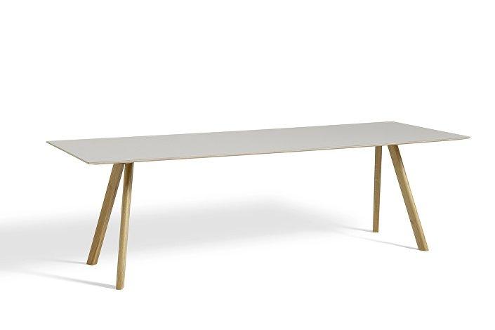 1010332039000_CPH30 L250xW90_Clear laquer oak base_Off white lino