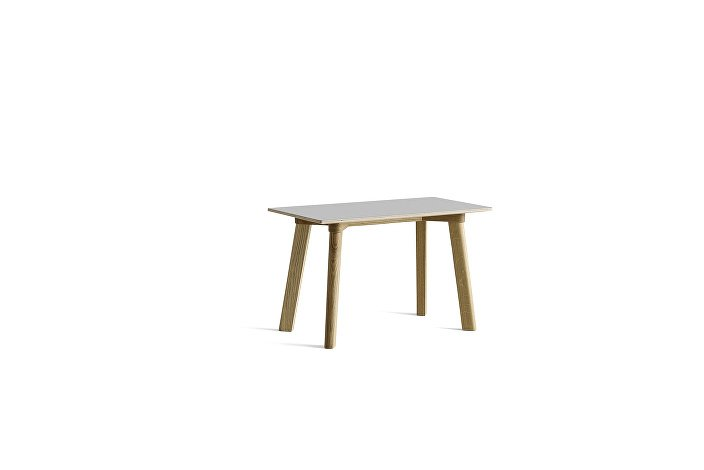 8091151109000_CPH Deux 215 Bench_L75xW35xH45_Matt lacquer oak base_Dusty grey laminate