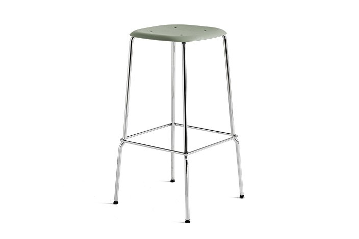 1991711309000_Soft Edge 30 Bar Stool high_H75_ Base chromed steel_Seat oak dusty green stained