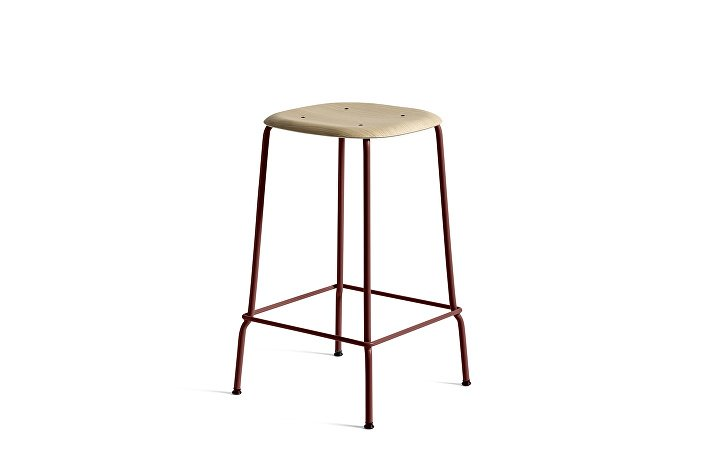 1990831109000Soft Edge 30 Bar Stool low_H65_Base Fall Red_Seat matt laquered