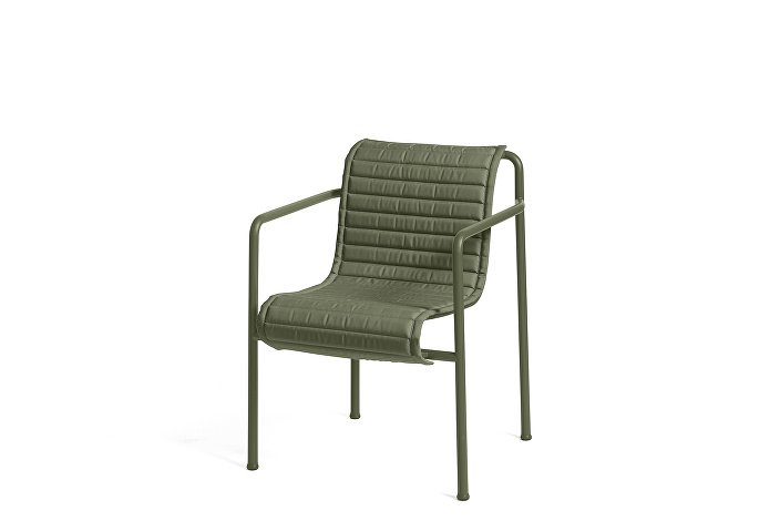 Palissade Dining Arm Chair olive_Quilted Cushion Olive