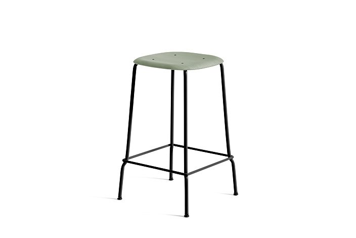 1990751309000_Soft Edge 30 Bar Stool low_H65_Base black_Seat oak dusty green stained