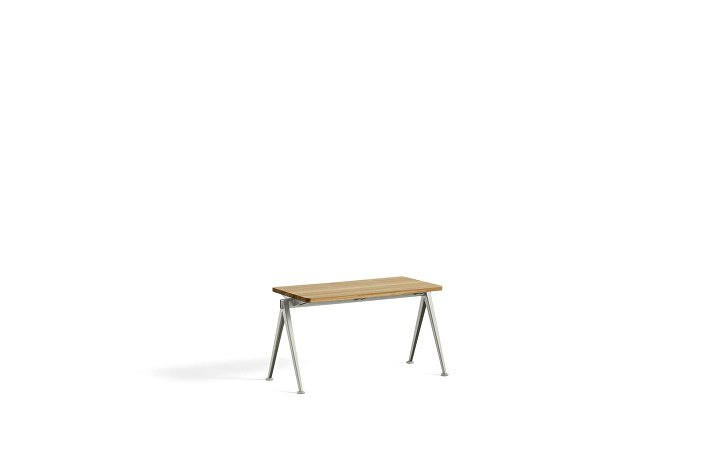 1955531009000_Pyramid Bench 11_L85xW40_Frame beige_Top oak clear lacquered