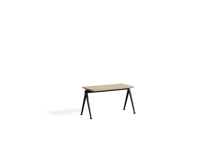 1955511509000_Pyramid Bench 11_L85xW40_Frame black_Top oak matt lacquered