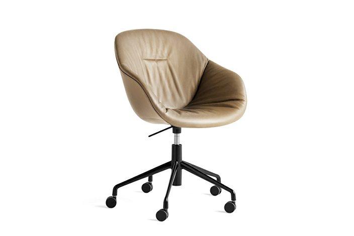 9354976105703_AAC 153 Soft Chair w. gas Silk SIL0258_black 5 star swivel base