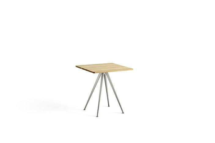 1959291009000_Pyramid Cafe Table 21_L70xW70_Frame beige_Top oak clear lacquered_wb