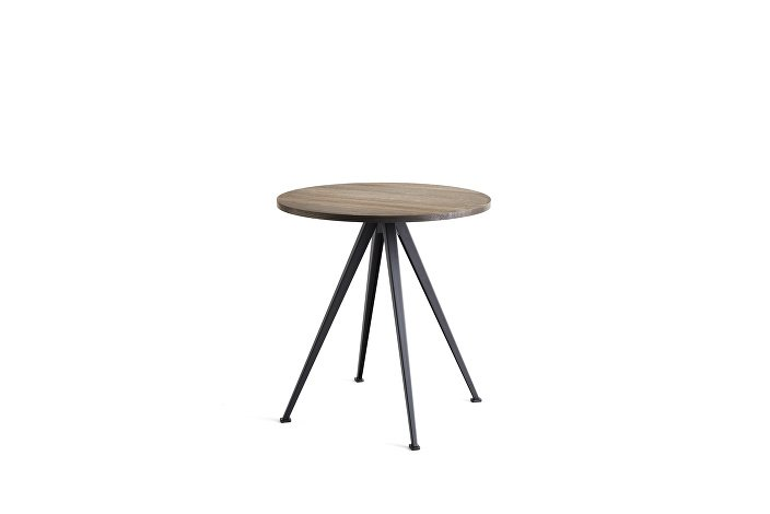 1958972009000_Pyramid Cafe Table 21_dia70_Frame black_Top smoked oiled_wb