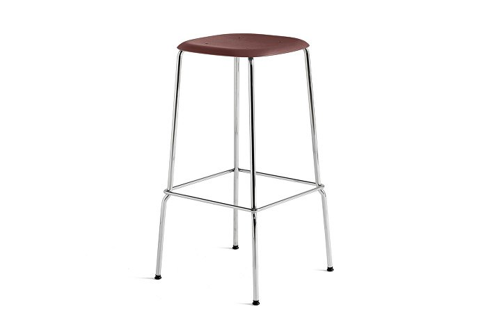 1991711409000_Soft Edge 30 Bar Stool high_H75_Base chromed steel_Seat oak fall red stained