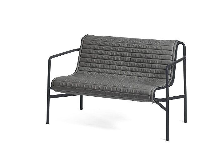 Palissade Dining Bench Anthracite_Quilted Cushion Anthracite