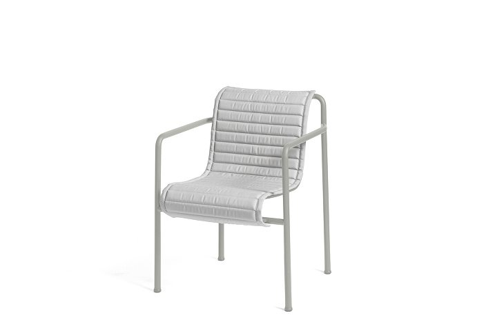 Palissade Dining Arm Chair Sky Grey_Quilted Cushion Sky Grey