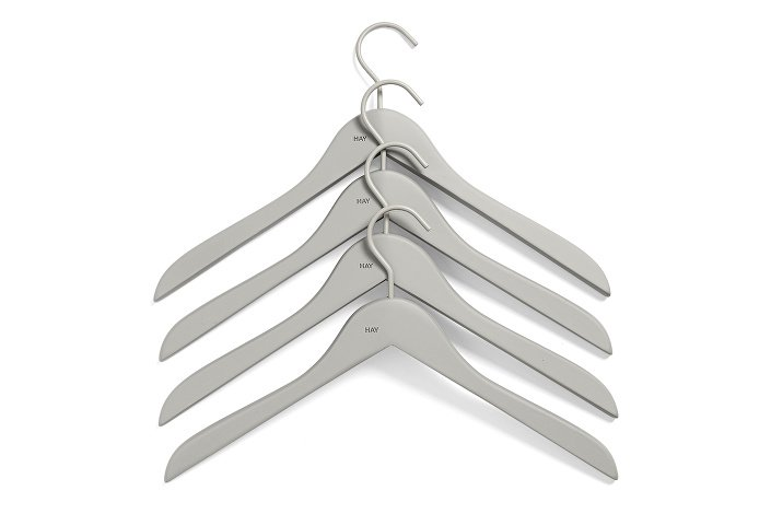 500079_Soft Coat Hanger 4 pcs slim grey