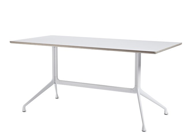 1933142009000_AAT10 Table_L180xW90xH73_White laminate tabletop_white frame