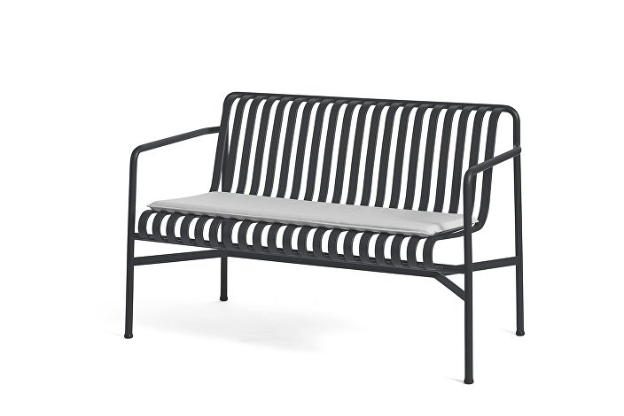 Palissade Dining Bench Anthracite_Seat Cushion Sky Grey