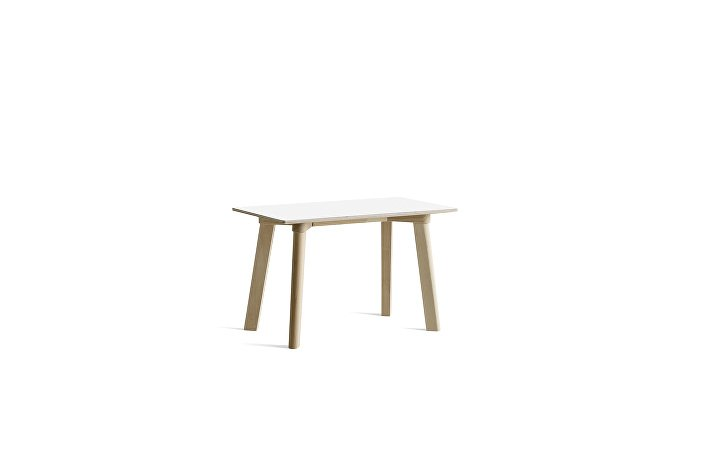 8091291309000_CPH Deux 215 Bench_L75xW35xH45_Beech untreated raw plywood edge base_Pearl white laminate
