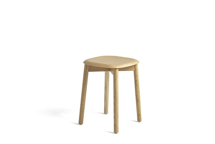 928365_Soft Edge 72 Stool_Base clear lacquered oak_Seat clear lacquered oak