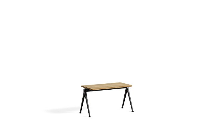 1955511009000_Pyramid Bench 11_L85xW40_Frame black_Top oak clear lacquered