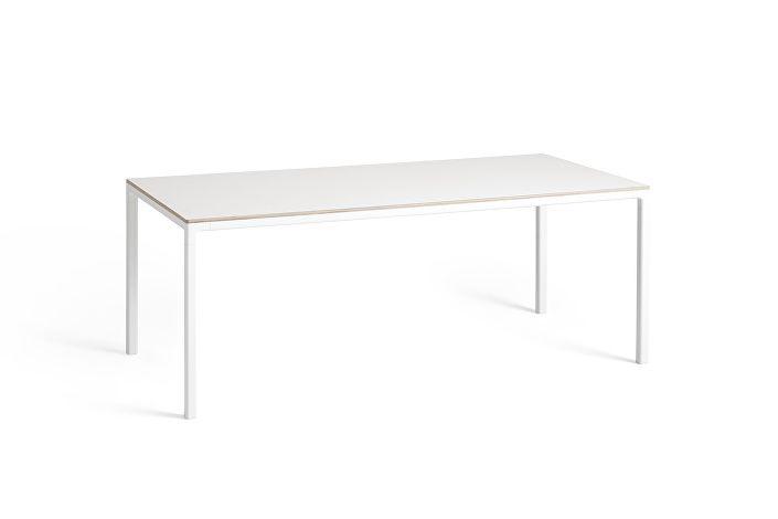 1023163509000_T12 Table_L200xW95xH74_Frame white_Tabletop white laminate
