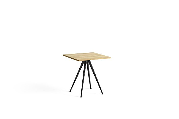 1959271009000_Pyramid Cafe Table 21_L70xW70_Frame black_Top oak clear lacquered_wb