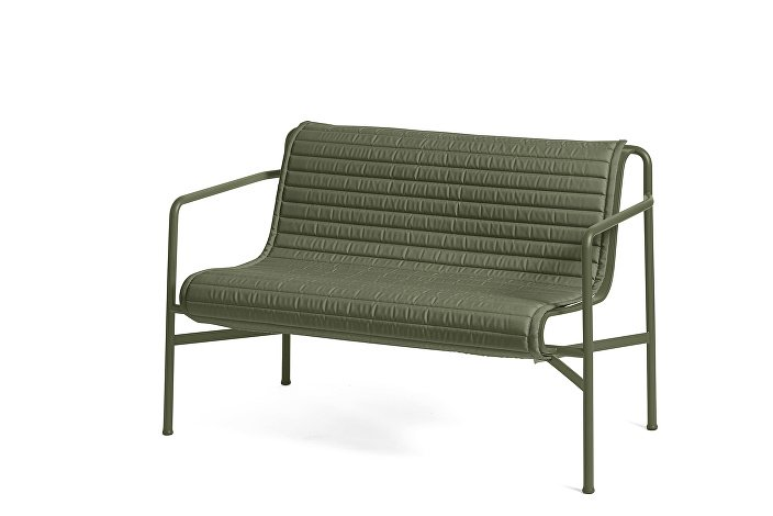 Palissade Dining Bench Olive_Quilted Cushion Anthracite
