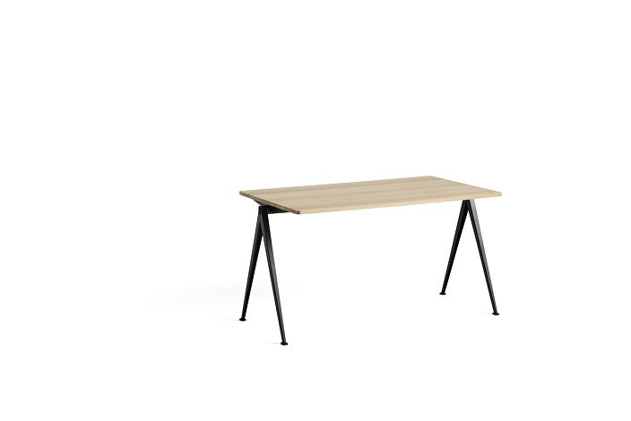 1955051509000_Pyramid Table 01_L140xW75_Frame black_Top oak matt lacquered
